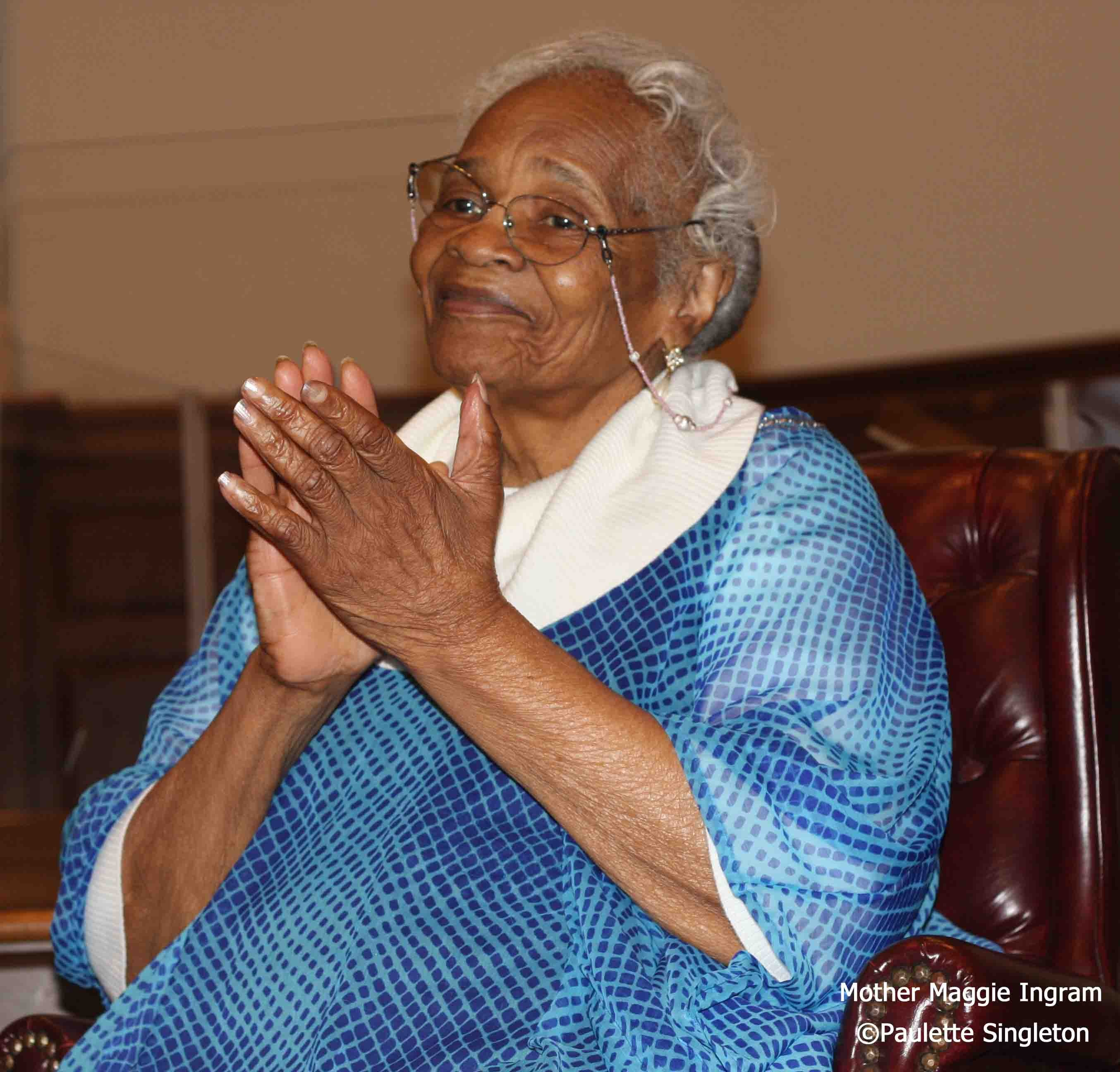 Mother Maggie Ingram of the Ingrametts of Richmond, VA; ©2015; Maggie Ingram; Gospel Legend Maggie Ingram© Paulette Shipman-Singleton