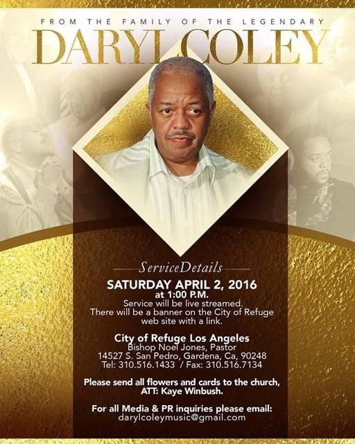 Daryl Coley Homegoing Service